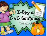 I-Spy CVC Sentences - Short /e/ Words (October Edition)