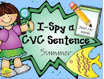 I-Spy CVC Sentences - Short /e/ Words (Summer Edition)