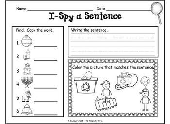 I-Spy CVC Sentences - Short /i/ Words (December Edition)