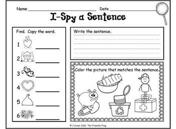 I-Spy CVC Sentences - Short /i/ Words (February Edition)