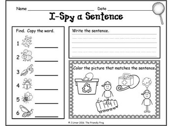 I-Spy CVC Sentences - Short /i/ Words (May Edition)