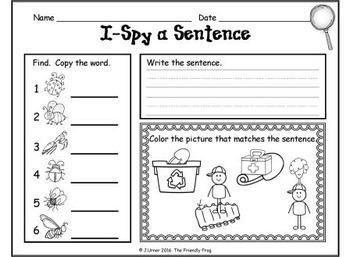I-Spy CVC Sentences - Short /i/ Words (May Edition)