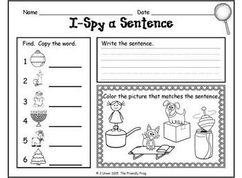 I-Spy CVC Sentences - Short /o/ Words (December Edition)