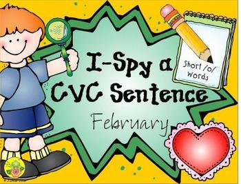 I-Spy CVC Sentences - Short /o/ Words (February Edition)