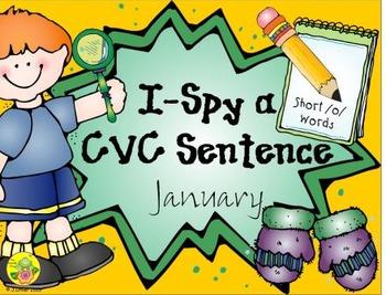 I-Spy CVC Sentences - Short /o/ Words (January Edition)