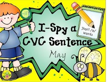 I-Spy CVC Sentences - Short /o/ Words (May Edition)