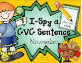 I-Spy CVC Sentences - Short /o/ Words (November Edition)