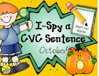 I-Spy CVC Sentences - Short /o/ Words (October Edition)