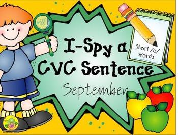 I-Spy CVC Sentences - Short /o/ Words (September Edition)