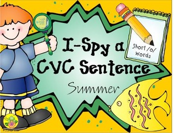 I-Spy CVC Sentences - Short /o/ Words (Summer Edition)