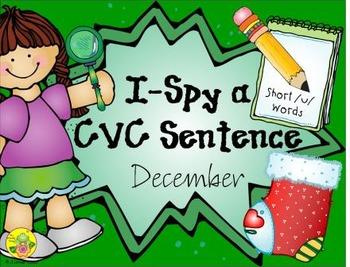I-Spy CVC Sentences - Short /u/ Words (December Edition)