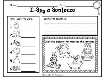 I-Spy CVC Sentences - Short /u/ Words (February Edition)