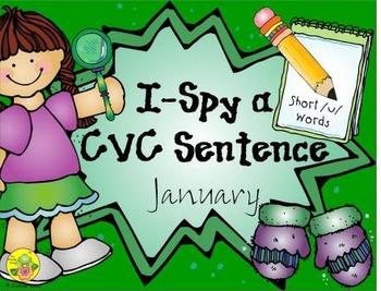 I-Spy CVC Sentences - Short /u/ Words (January Edition)