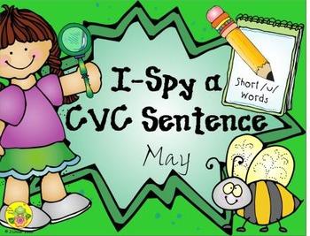 I-Spy CVC Sentences - Short /u/ Words (May Edition)