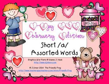 I-Spy CVC Short /a/ Assorted Words (February Edition)