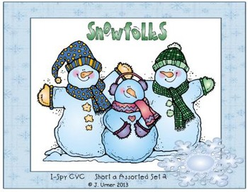 I-Spy CVC Learning Centers - Short /a/ Assorted Words (January Edition)