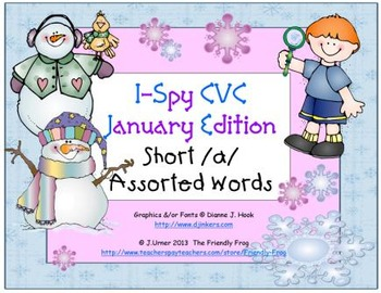I-Spy CVC Learning Centers - Short /a/ Assorted Words (January Edition)