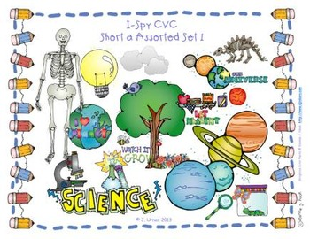 I-Spy CVC Learning Centers - Short /a/ Assorted Words (September Edition)