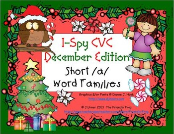 I-Spy CVC Learning Centers - Short /a/ Word Families (December Edition)