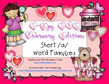 I-Spy CVC Short /a/ Word Families (February Edition)