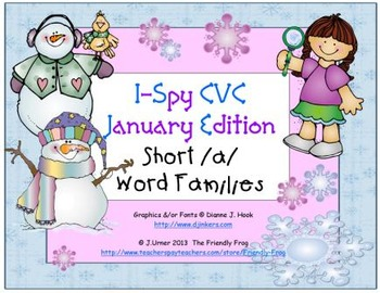 I-Spy CVC Learning Centers - Short /a/ Word Families (January Edition)