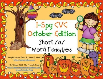 I-Spy CVC Learning Centers - Short /a/ Word Families (October Edition)
