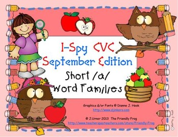 I-Spy CVC Learning Centers - Short /a/ Word Families (Sept