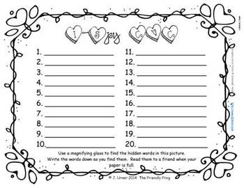 I-Spy CVC Short /e/ Assorted Words (February Edition)