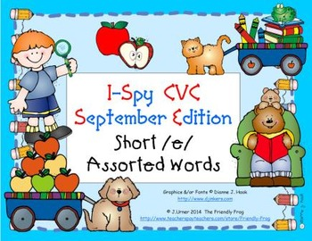 I-Spy CVC Learning Centers - Short /e/ Assorted Words (Sep