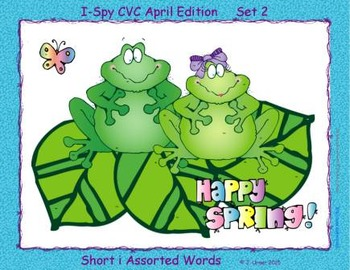 I-Spy CVC Learning Centers - Short /i/ Assorted Words (April Edition)