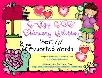 I-Spy CVC Short /i/ Assorted Words (February Edition)