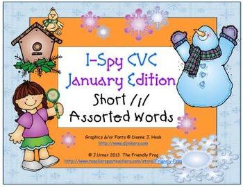 I-Spy CVC Learning Centers - Short /i/ Assorted Words (January Edition)