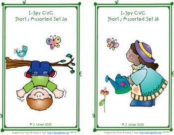 I-Spy CVC Learning Centers - Short /i/ Assorted Words (March Edition)