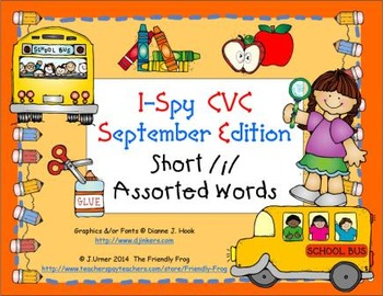 I-Spy CVC Learning Centers - Short /i/ Assorted Words (September Edition)