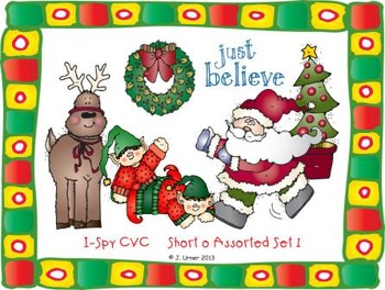 I-Spy CVC Learning Centers - Short /i/ & /o/ Word Families (December Edition)