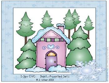I-Spy CVC Learning Centers - Short /i/ & /o/ Word Families (January Edition)