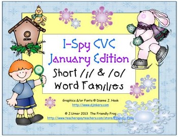 I-Spy CVC Learning Centers - Short /i/ & /o/ Word Families