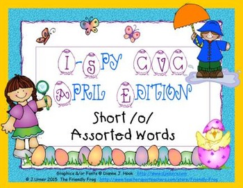 I-Spy CVC Learning Centers - Short /o/ Assorted Words (April Edition)