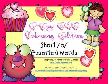 I-Spy CVC Learning Centers - Short /o/ Assorted Words (February Edition)