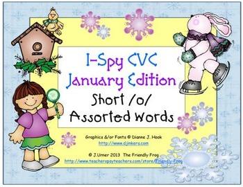 I-Spy CVC Learning Centers - Short /o/ Assorted Words (January Edition)