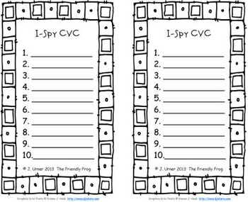 I-Spy CVC Learning Centers - Short /o/ Assorted Words (January Edition)
