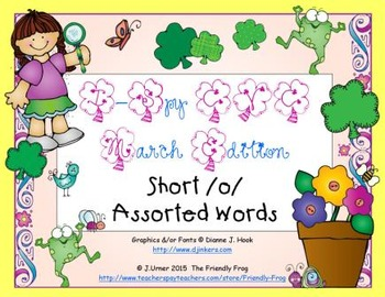 I-Spy CVC Learning Centers - Short /o/ Assorted Words (March Edition)