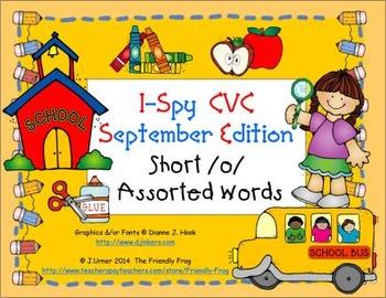 I-Spy CVC Learning Centers - Short /o/ Assorted Words (September Edition)