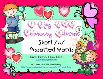 I-Spy CVC Learning Centers - Short /u/ Assorted Words (February Edition)