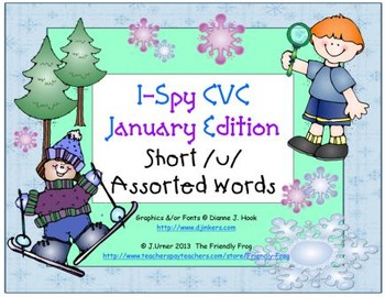 I-Spy CVC Learning Centers - Short /u/ Assorted Words (January Edition)