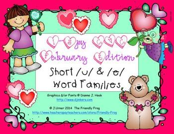I-Spy CVC Short /u/ & /e/ Word Families (February Edition)