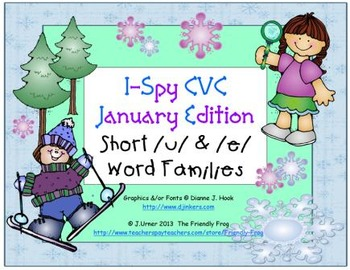 I-Spy CVC Learning Centers - Short /u/ & /e/ Word Families (January Edition)