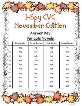 I-Spy CVC Tiny Words Bundle (November Edition) Set 1