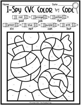 I-Spy CVC Tiny Words - Color by Code (December Edition) Set 1
