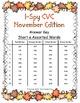 I-Spy CVC Tiny Words - Short /a/ Assorted Words (Nov. Edition) Set 2